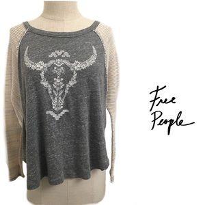 Free People Antler Long Sleeve Top Size SP